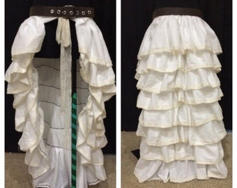 Floor length bustle skirt