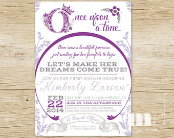 Once Upon a Time Baby Shower Invitations, Fairytale Baby Shower, Storybook Baby Shower Invite, Once Upon A Time Fairy Tale PRINTABLE DIGITAL