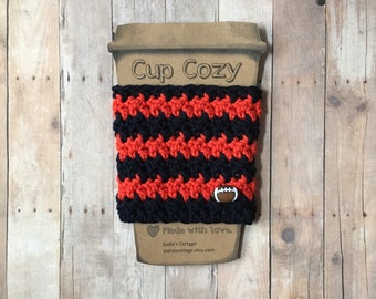 Chicago Bears, Coffee Sleeve, Cup Cozy, Cup Holder, Coffee Cup Cozy, Cup Sleeve, Coffee Cozy, Coffee Cup Sleeve, Reusable Coffee Sleeve