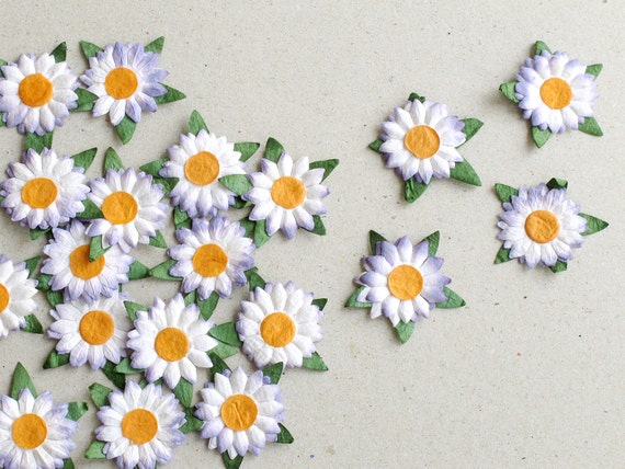 25mm die cut paper flowers 20 flat purple daisy with orange centre 25mm die cut paper flowers 20 flat purple daisy with orange centre great for scrapbooking and creative craft projects 580 from squishnchips on etsy mightylinksfo