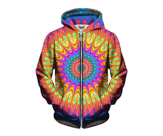 Unisex Pullover Hoodies - Geometry Artwork Sweatshirt - Cool Mandala Hoodie - Gifts for Him or Her - EDM Festival Outfit xlYZCpmA5H
