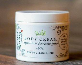 Vegan Body cream - Wild - Shea Butter Body Cream - Vegan body lotion - Natural Body Cream - natural moisturizer