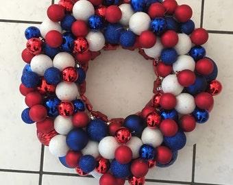 Patriotic Ornament Wreath/Centerpiece