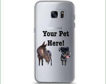 Custom Phone Case, Samsung Phone, Animal Art, Dog Lovers, Custom Art, Phone Pet Art