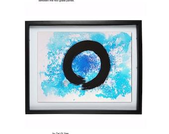 Color Enso Zen circle painting original, not a print