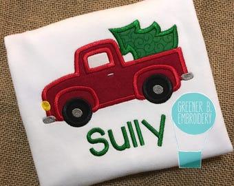 Christmas Truck Shirt / Boy Christmas Shirt / Christmas Truck / Toddler Christmas / Truck Applique / Christmas Applique / Christmas Tree