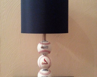 St. Louis Cardinals Fan Custom Baseball Lamp