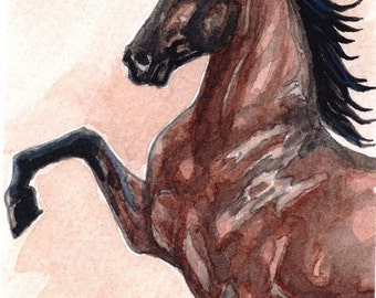 Bay Hackney Harness Pony Ltd Ed Print ACEO Mini Art by Gail Ragsdale