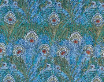 Liberty of London Tana Lawn - Classics Collection - HERA A (Peacock Feathers) - sold by 1/4 metre and FQ