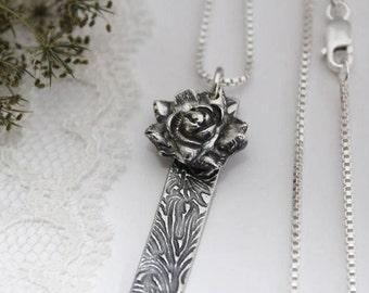 Silver Succulent Necklace