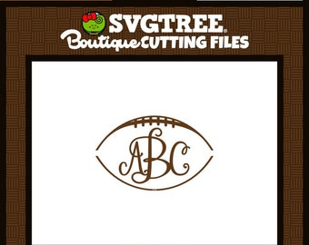 Football Monogram SVG Football SVG Football Mom SVG Commercial Free Cricut Files Silhouette Files Digital Cut Files svg cut files