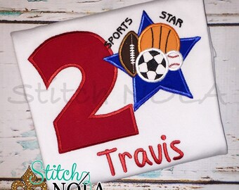 Sports All Star Birthday Shirt or Bodysuit
