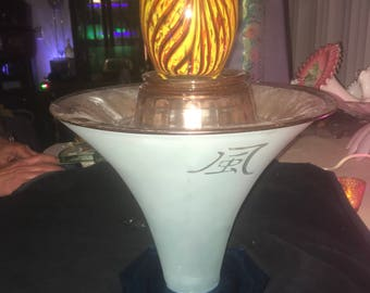 Display Your Art Glass Lamp... change display monthly