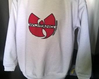 WU WEAR sweatshirt, Wu-Tang sweat shirt, sewn jacket vintage authentic Wu Tang Clan jersey 90s XL
