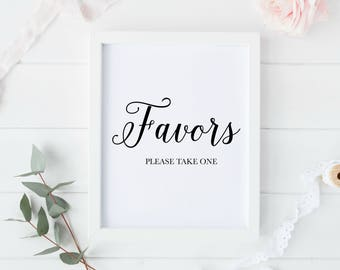 Wedding Favors Sign Printable