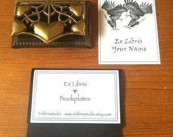 Booklabels Eagles Love 25 Personalized Bookplates Ex Libris Wedding Anniversary Engagement Valentine Gift