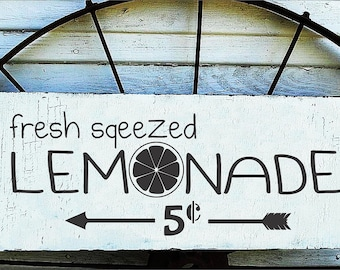 fresh squeezed LEMONADE - Reusable STENCIL- 12 sizes available-  Create Fun Lemonade Signs Yourself!