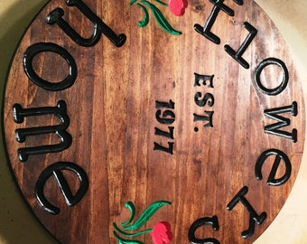 Decorative handmade and personalized routed wood signs!