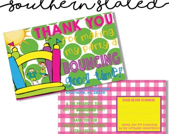 Bounce House Party Thank You Cards