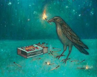 A Crow Plays with Matches no. 48 c-print 8 x 10