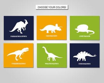 Dinosaur Wall Art - Dinosaur Nursery - Dinosaur Bedroom - Dinosaur Decor - Boy Wall Art - PRINTS or CANVAS or Printable Digital Download