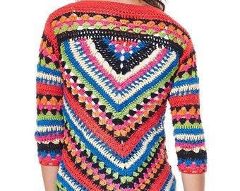 Floral Crochet BLOUSE  #Bohochic #Crochetblouse  Handmade Fashion Crochet blouse #Handcrochet