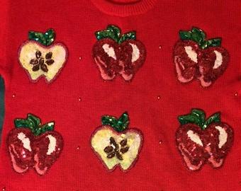 Marissa Christina Sparkle Apple Sweater