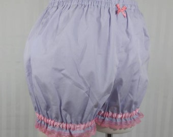 Light purple plain mini sweet lolita fairy kei kawaii pastel goth bloomers shorts adult woman small-plus size
