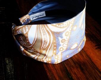 Headbands for women  adult hairband woman metallic gold vintage ussr fabric unique glamorous headbands