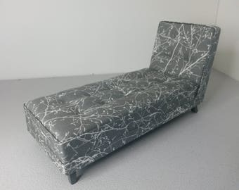 Dollhouse Modern Miniature Chaise Longue Sofa Couch 1:12 Scale