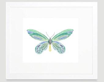 Butterfly Art Print -  Butterfly Wall Art - Baby Girl Nursery Decor - Butterfly Toddler Art - Teen Girl Wall Art - Digital Download