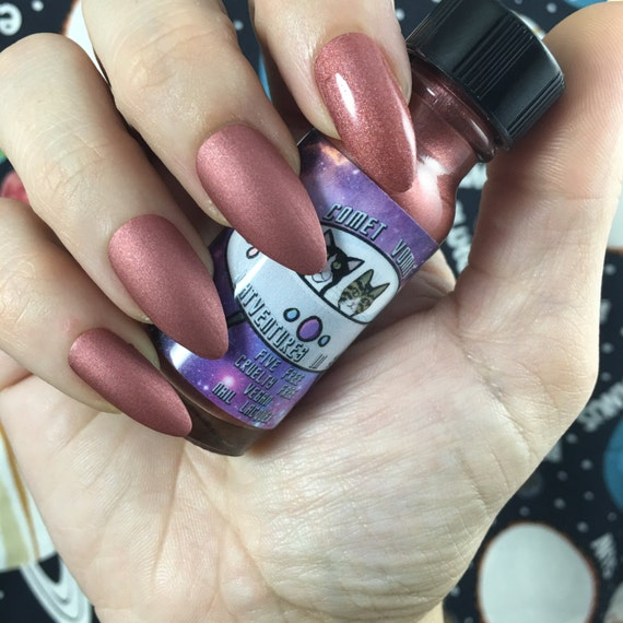 Venus Goes to Mars Catventures in Space matte mauve vegan nail polish