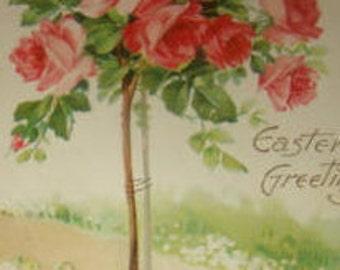 SALE Pretty Vintage Floral Postcard