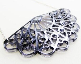 Antique fan necklace