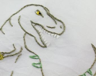 Dinosaur Embroidery Pattern Dinosaur Embroidery Design