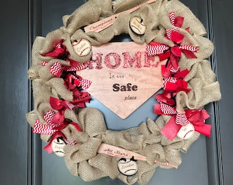 Home is Our Safe Place Wreath