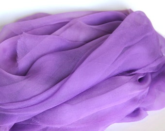 Silk Fabric - Purple Orchid Chiffon Gauze -  Felting Supplies  - Photo Prop - Infant Wrap -  Low Shipping Costs