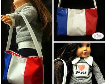 paris doll purse 18 inch doll clothes paris flag pocket book doll accessories