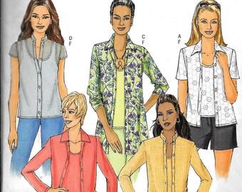 Butterick B5034 Misses Plus Size Shirt,Tank Top Sewing Pattern 5034 UNCUT Size 16, 18, 20, 22