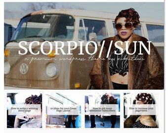 Scorpio Sun - WordPress Theme - WordPress Blog Theme - WordPress Shop Theme - Website Design - Blog Template - WordPress Template