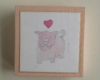 Smiley Love Pig Tiny Print