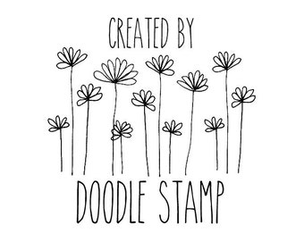 """Custom Created By Stamp, personalized rubber stamp, custom rubber stamp, custom branding stamp, customized stamp, 1.7""""x1.7"""" (hms7)"""