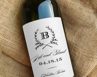 Personalized Wine Bottle Labels \\ Gift \\ Favor \\ Centerpiece