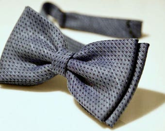 Mens Bow Ties Blue Bow Tie Tie Bow Wedding Bow Tie Bow Tie for Men Gift for Men Gift Gift for Son Gift for Husband Cotton BowTie Bow Tie