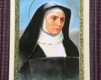 St. Edith Stein LAMINATED Prayer Card SHIPPING INCLUDED