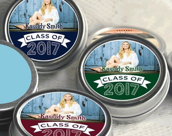 12 Graduation Mint Tin Favors - Graduation Party Favors - Graduation Photo Favors - Graduation Decor - Graduation Favors - Graduation Mints