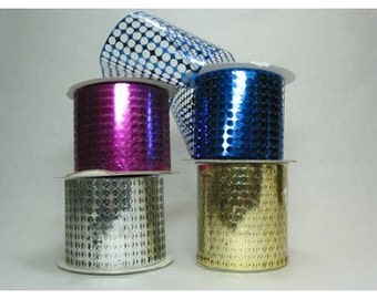 "Honeycomb(Punchinello) 3-1/2"" x 50 yds-Silver or Your Choice of 11 colors"