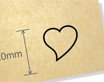 Clear Acrylic Stamp.Curved Heart stamp