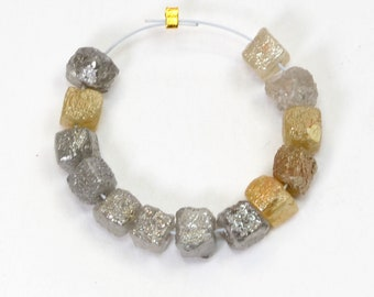 100% Natural Uncut Rough Colored Fine Diamond Cube Beads (13)