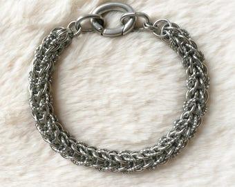 Full Persian Stainless Steel Bracelet - Spiral links